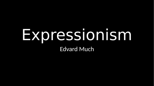 Abstract Art: Expressionism  Edvard Munch's The Scream  complete planning