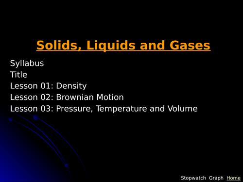 IGCSE Edexcel Physics P5 Solids Liquids and Gases Lesson and Questions