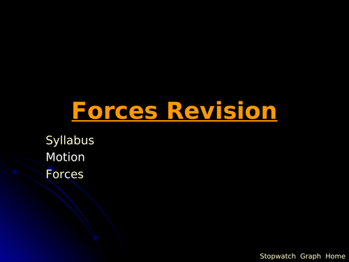 IGCSE Edexcel Physics P1 Forces and Motion Lesson and Questions