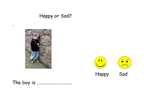 Feelings - 6 pages designed for workstations for students with ASD