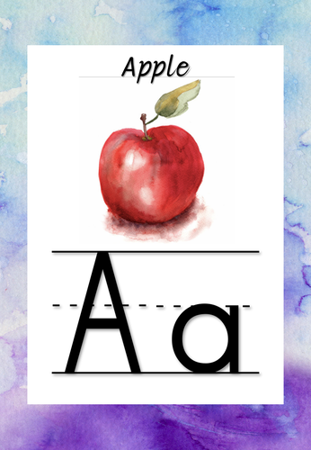 Watercolour Alphabet Display Posters