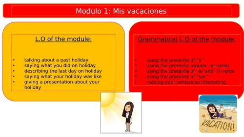 New Viva 2 - Module 1 - Unit 1 - De vacaciones
