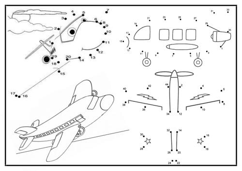 Aeroplane - Dot-To-Dot Sheet