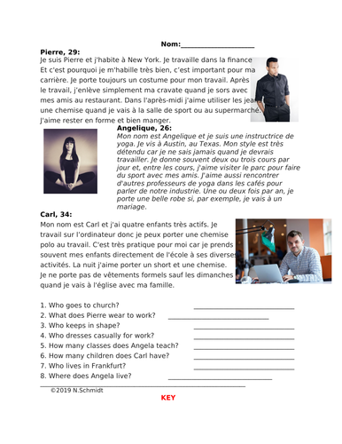 Mes Vêtements Lecture en Français: French Reading on Style and Clothing