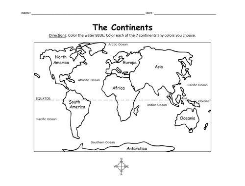 COLOR THE CONTINENTS