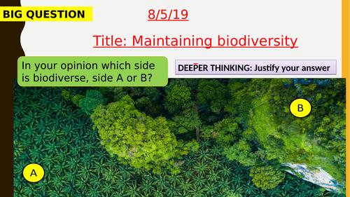 AQA new specification-Maintaining biodiversity-B18.7