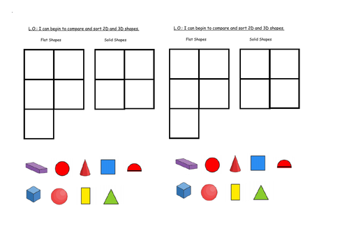 Primary shape, space and measure resources