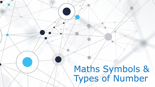 Types of Number and Symbols