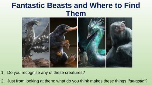 Fantastic Beasts/Mythical Creatures creative writing