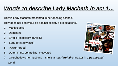 Macbeth and Lady Macbeth character revision