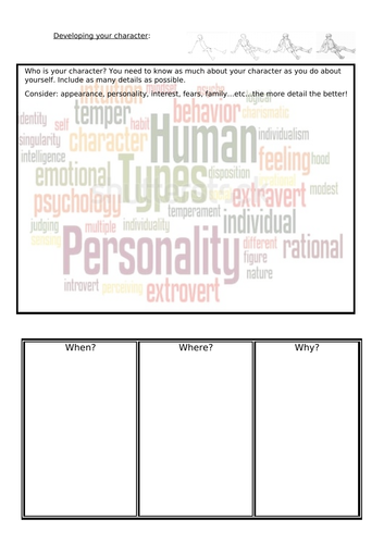 Character development GCSE