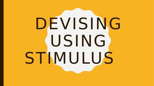 Devising using Stimulus KS3-4