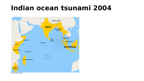 Boxing day 2004 Indian ocean tsunami case study