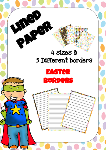 Lined Paper - Easter