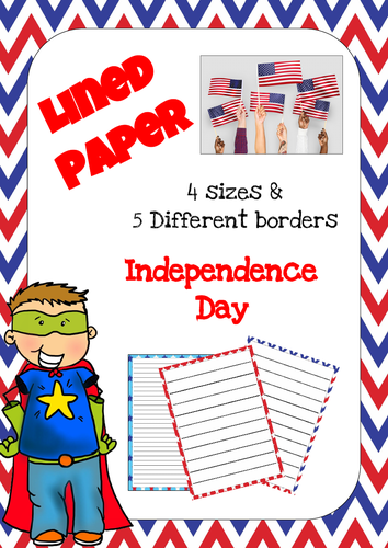 Lined Paper - Independence Day