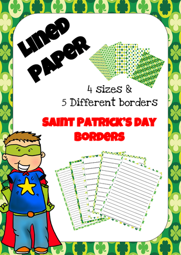 Lined Paper - St Patrick's Day