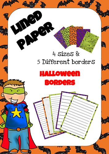 Lined Paper - Halloween