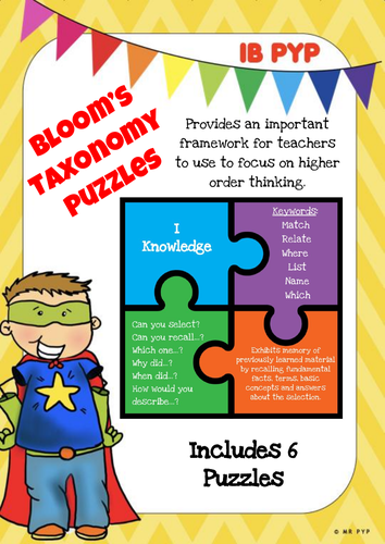 Bloom's Taxonomy Puzzles