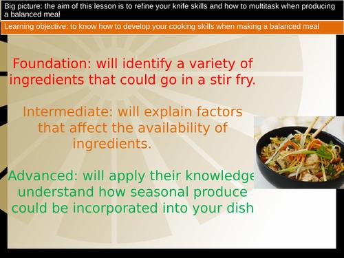 Lesson 2  Year 8 - Stir fry