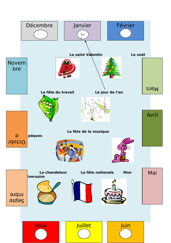 Dates and Months / French Festivals