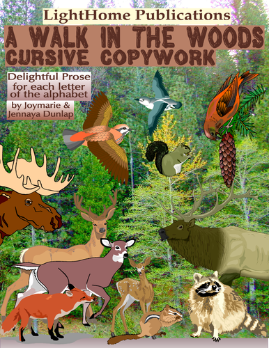 """A Walk in the Woods"" Cursive Copywork"