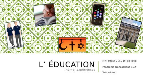 School - L'ecole - IB DP ab initio + MYP Phase 2/3
