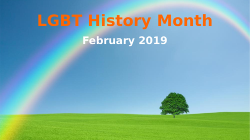 LGBT+ History Month - Assembly