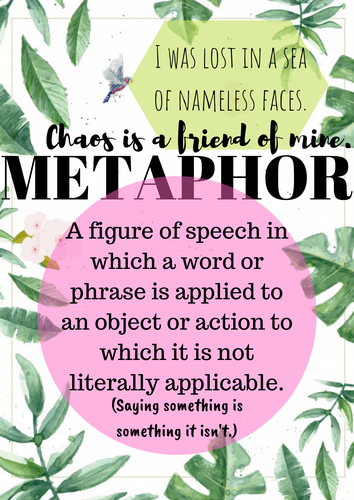 Botanical-Style Literary Terms and Devices Posters