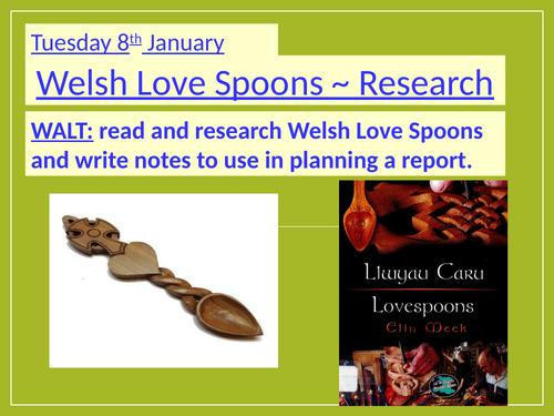 Welsh Love Spoons ~ COMPLETE SET OF 4 LESSONS ~ Non-fiction & Research Tasks