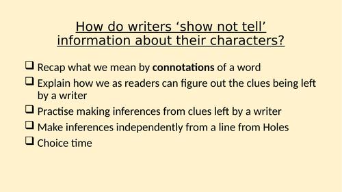 Practising understanding connotations KS2 or SEN KS3/4