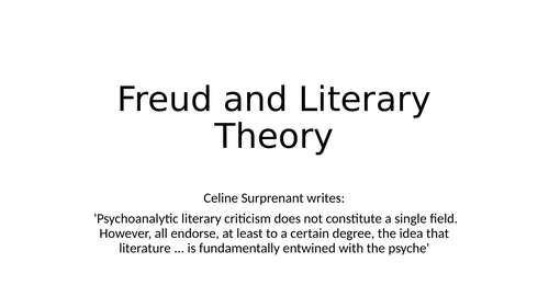 An introduction to Freudian Literary Theory.