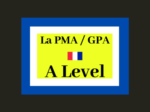 French - A level - changement dans la famille - PMA / GPA  (reading - exam style questions)