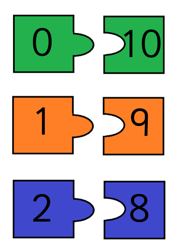 Number Bonds to 10 by EJH95 | Teaching Resources