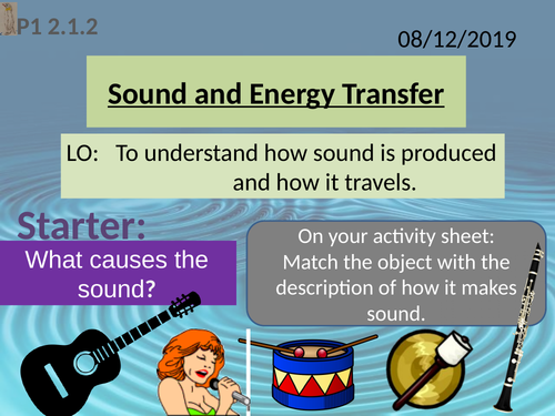 Activate 1: P2.2  Sound and Energy Transfer