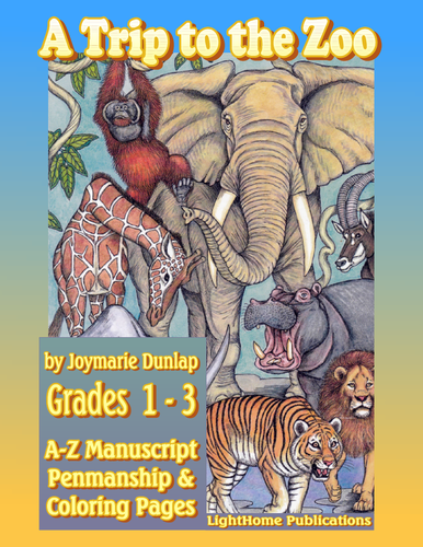 """A Trip to the Zoo"" A-Z Manuscript Penmanship"