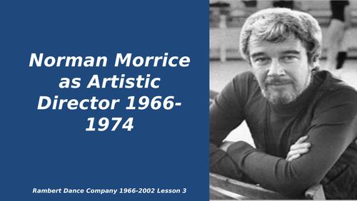 Norman Morrice Lesson. Rambert Dance Company 1966-2002