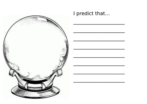 Prediction recording sheet