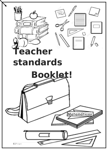 Teacher standard evidence booklet