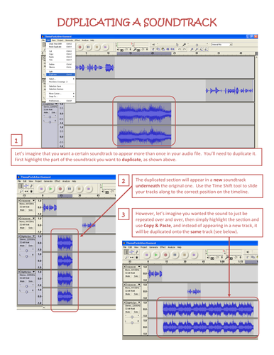 Four tutorials for use with Audacity (I)
