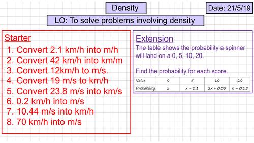 Converting Units of Density