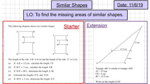 Area Scale Factor Similarity