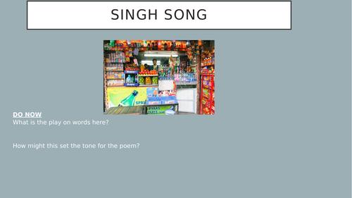 Singh Song by Daljit Nagra