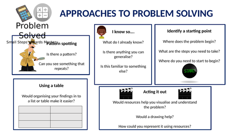 Small Steps to Mastery - Approaches to problem solving and reasoning