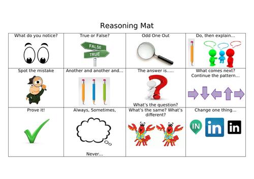 Small Steps to Mastery - Reasoning Mat
