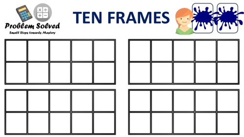 Small Steps to Mastery - Ten frames