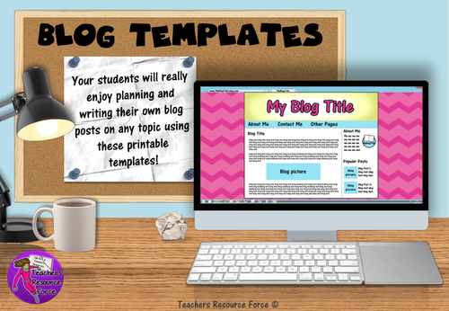 Blog Template Printables for any subject