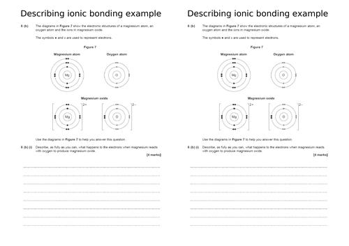 C3.3 Ionic bonding - foundation