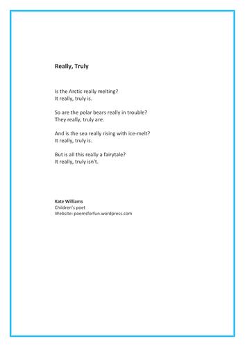 Global warming poem - melting ice