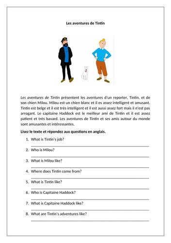 Tintin / Les BD / Lire / Comics / Reading