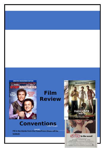 Film Review Unit (Yr 11 General English)